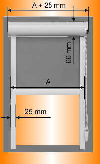 Dekomax roletta méret felvétele