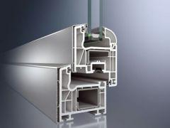 Schüco Corona CT 70 AS műanyag ablak Classic szárnyprofillal alumínium borítással