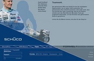 A Schüco International KG és a Forma 1-ben versenyző Mclaren Mercedes 1999-2008 működött együtt