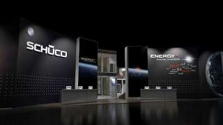 A Schüco standja a 2007-es BAU kiállításon, téma az Energy2